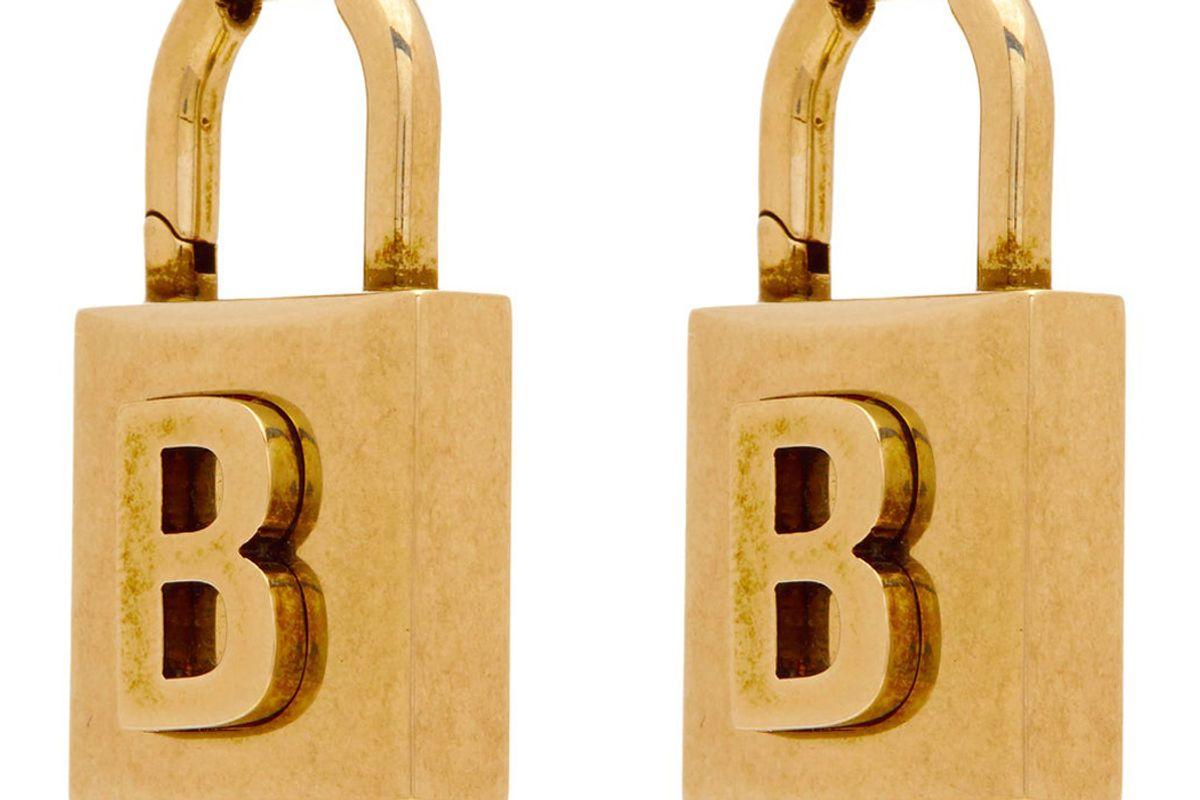 balenciaga small lock earrings