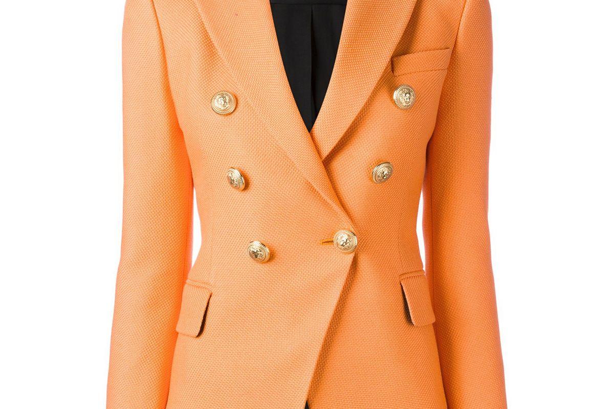 Double Breasted Blazer in Orange
