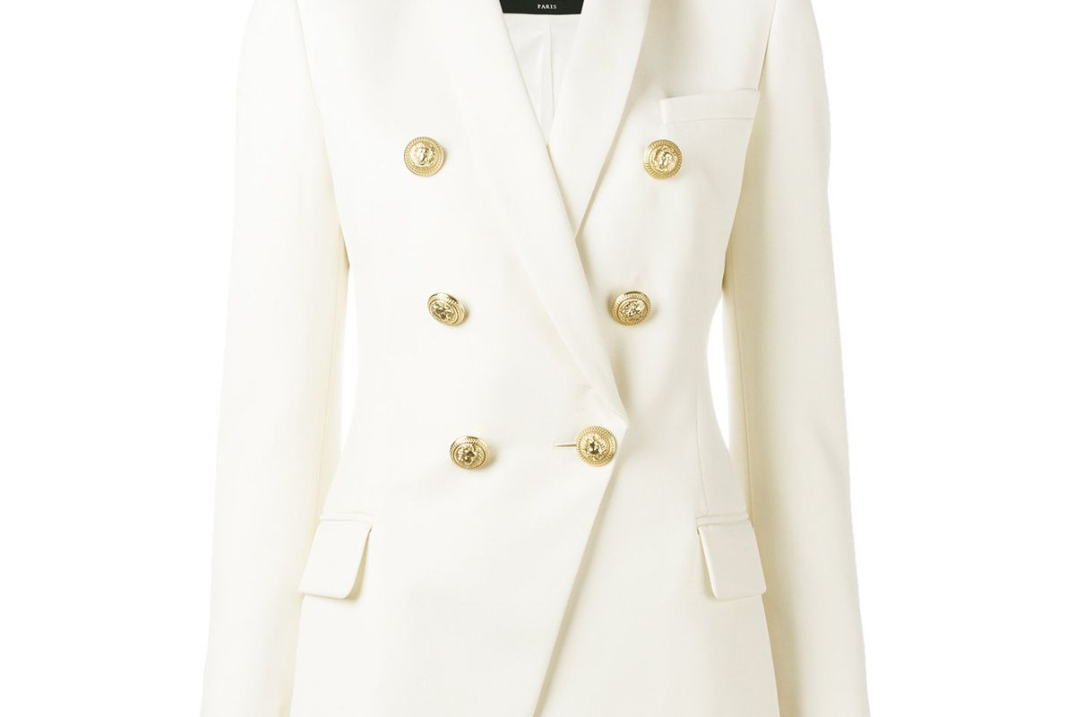 Double Breasted Blazer in White
