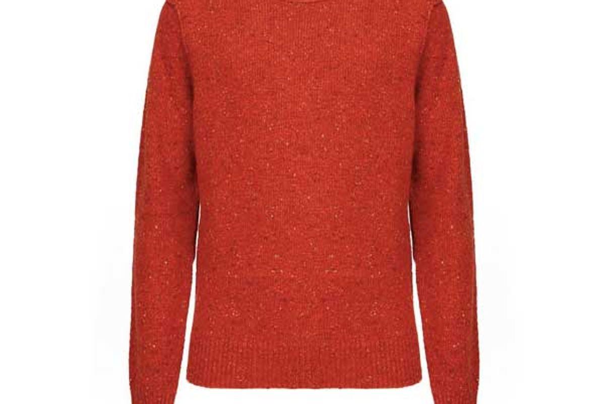 baracuta tweed crew neck sweater