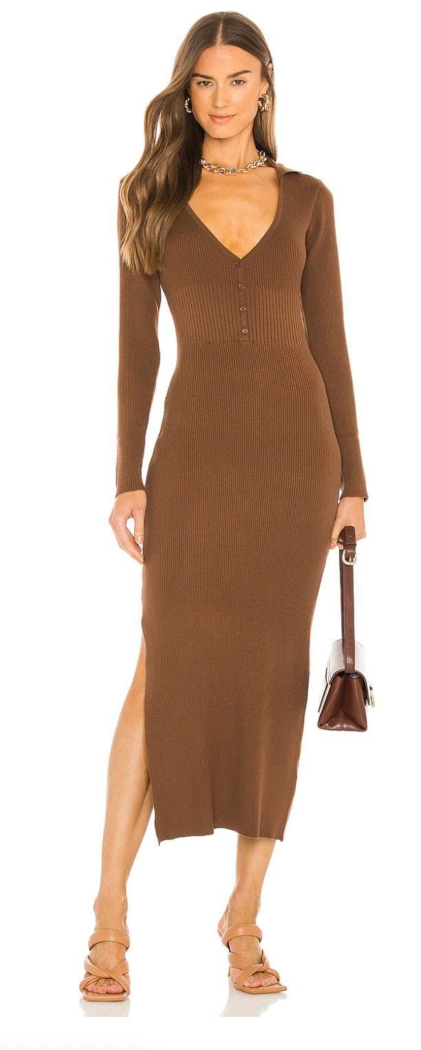 bardot collar knit dress