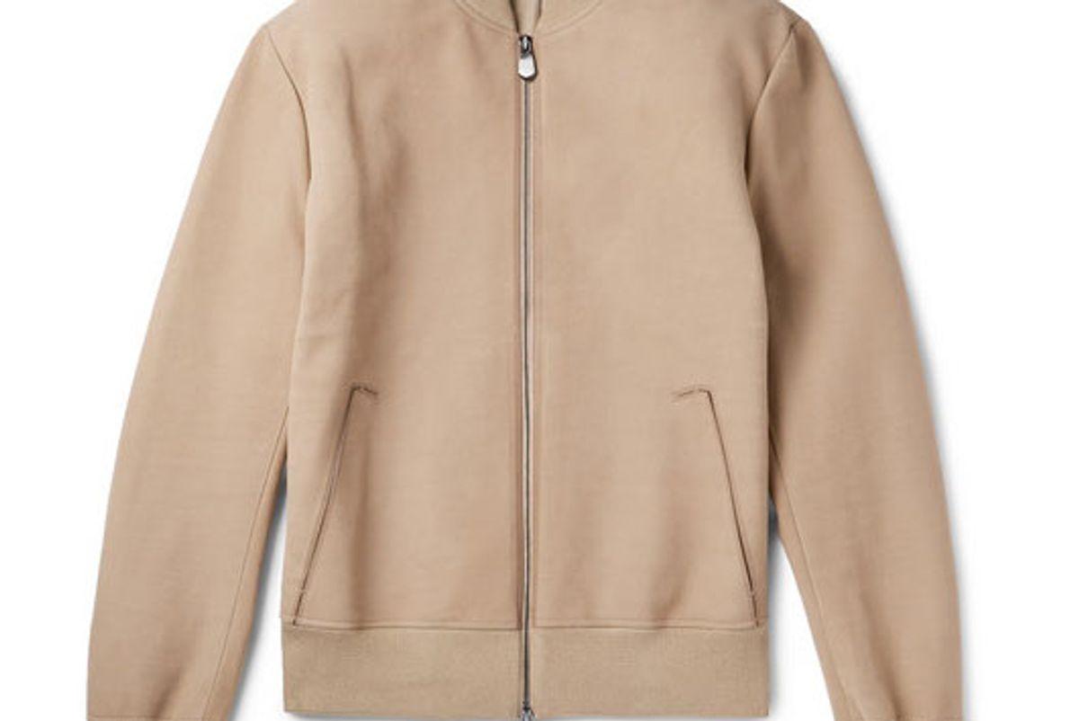 berluti nubuck bomber jacket