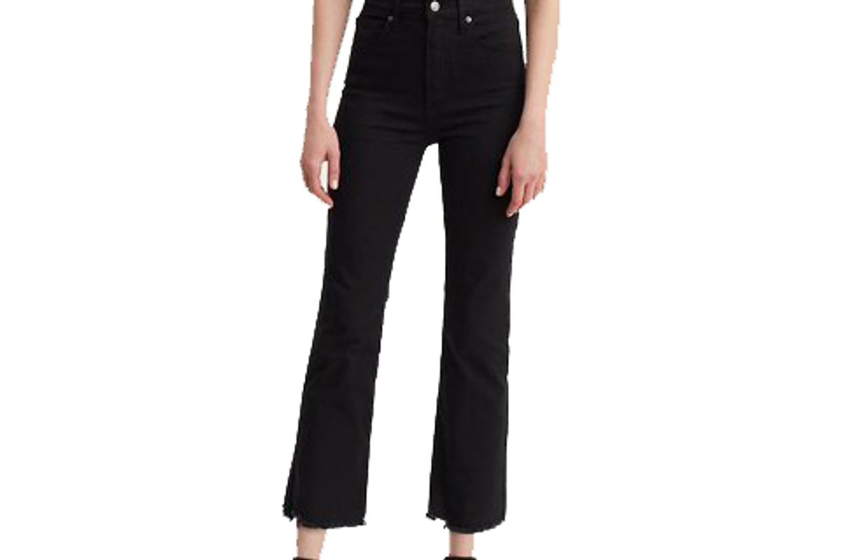 levi's mile high crop flare jeans
