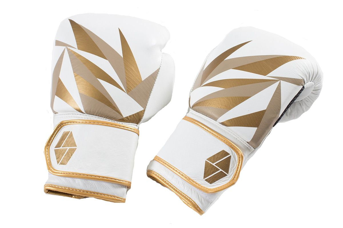 Bia Boxing Gloves in White/Gold