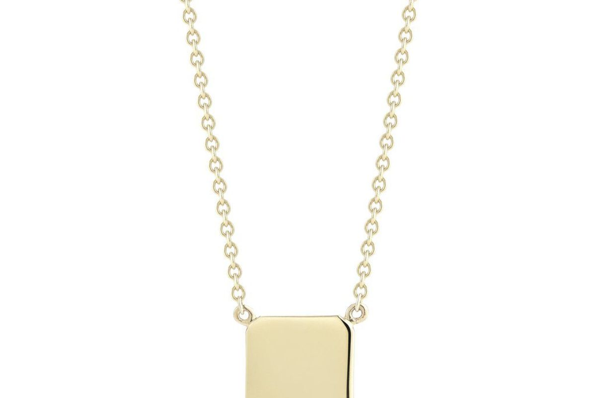 Gold Custom Tag Necklace