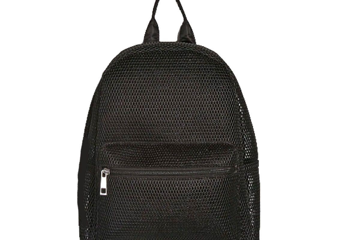 Semi-Sheer Mesh Backpack