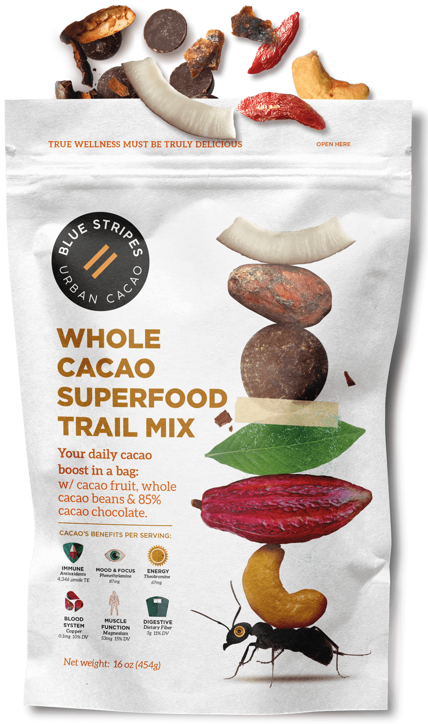 blue stripes whole cacao superfood trail mix