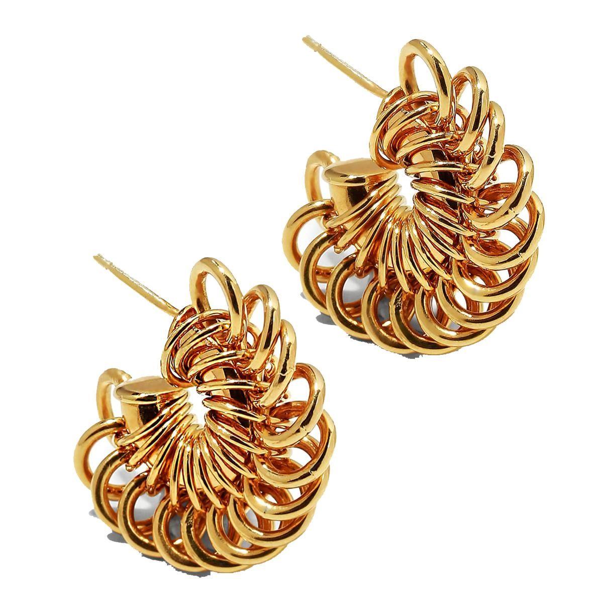 bottega veneta multi ring hoop earrings