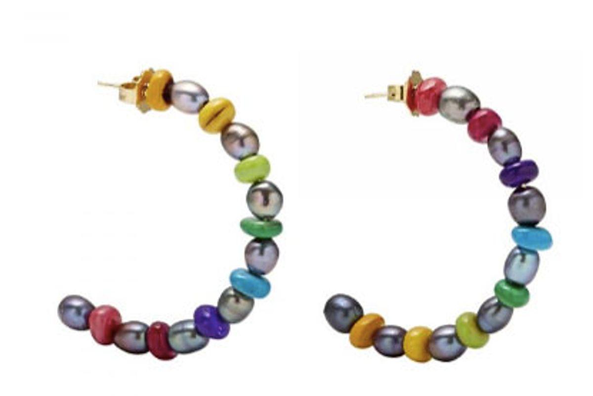 brinker and eliza double take hoop earrings