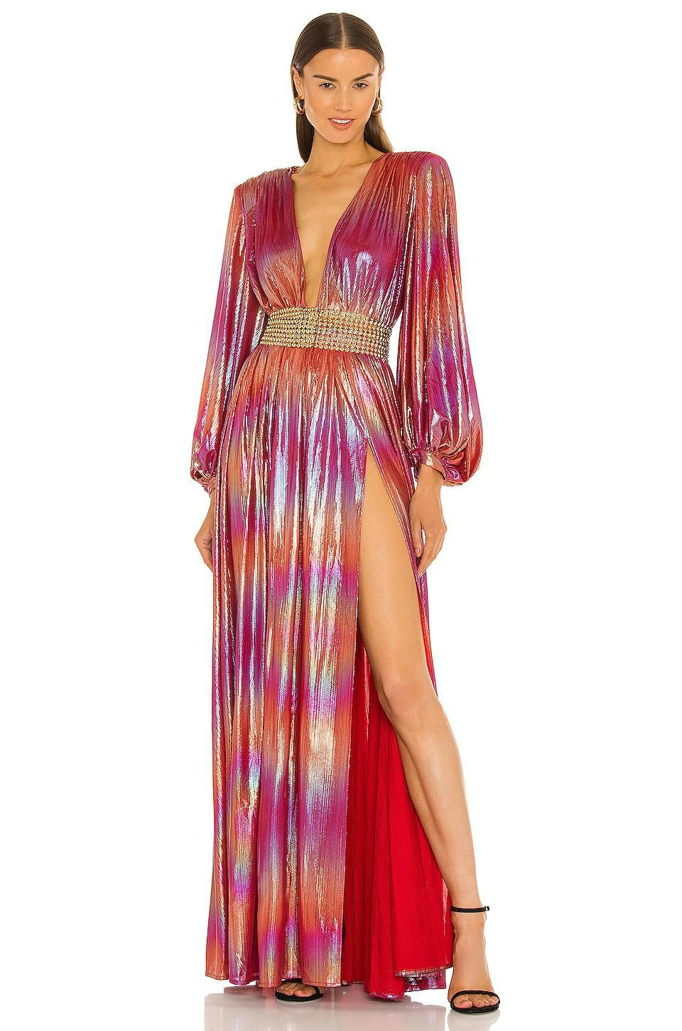 bronx and banco zoe rose gown