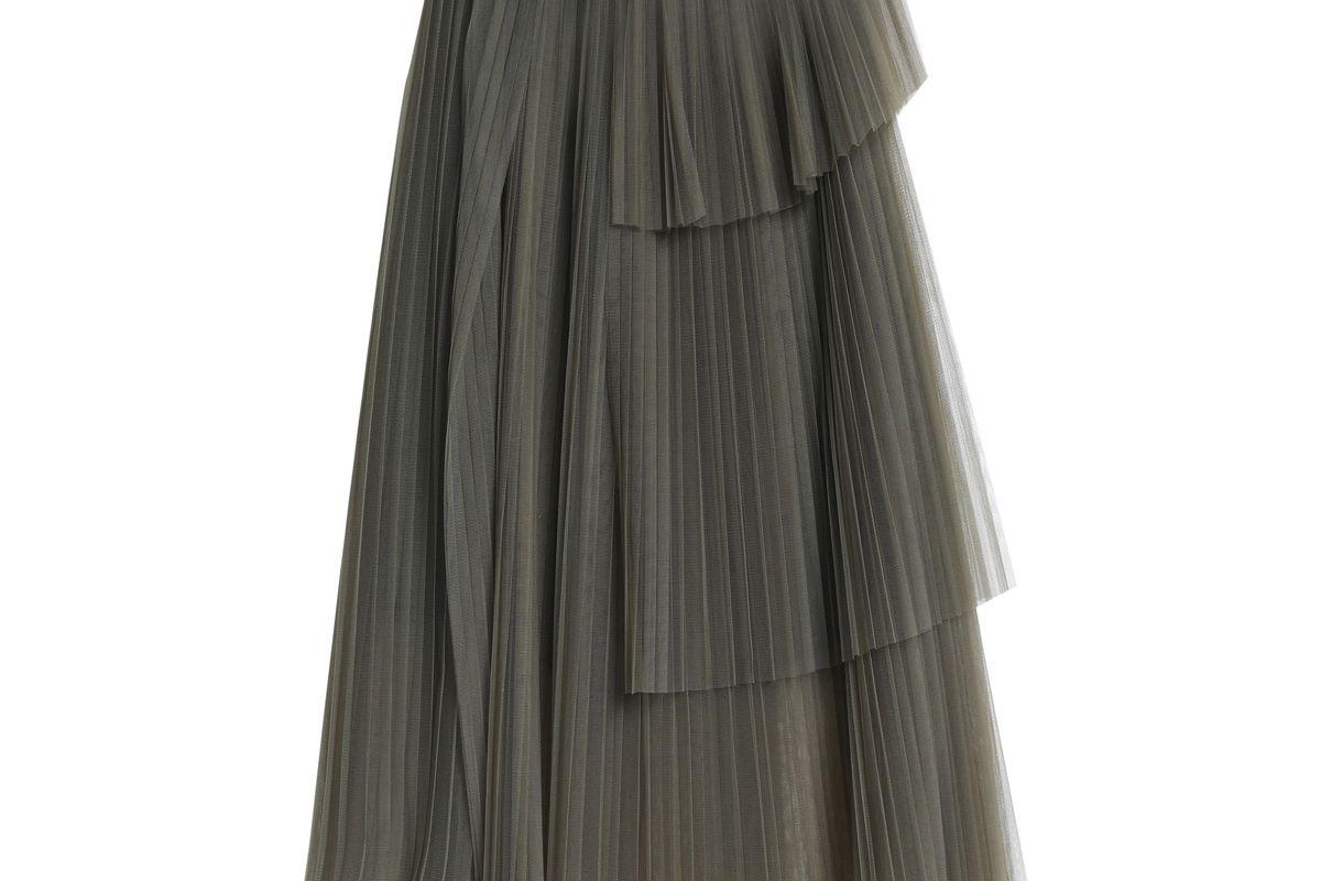 brunello cucinello layered pleated tulle skirt