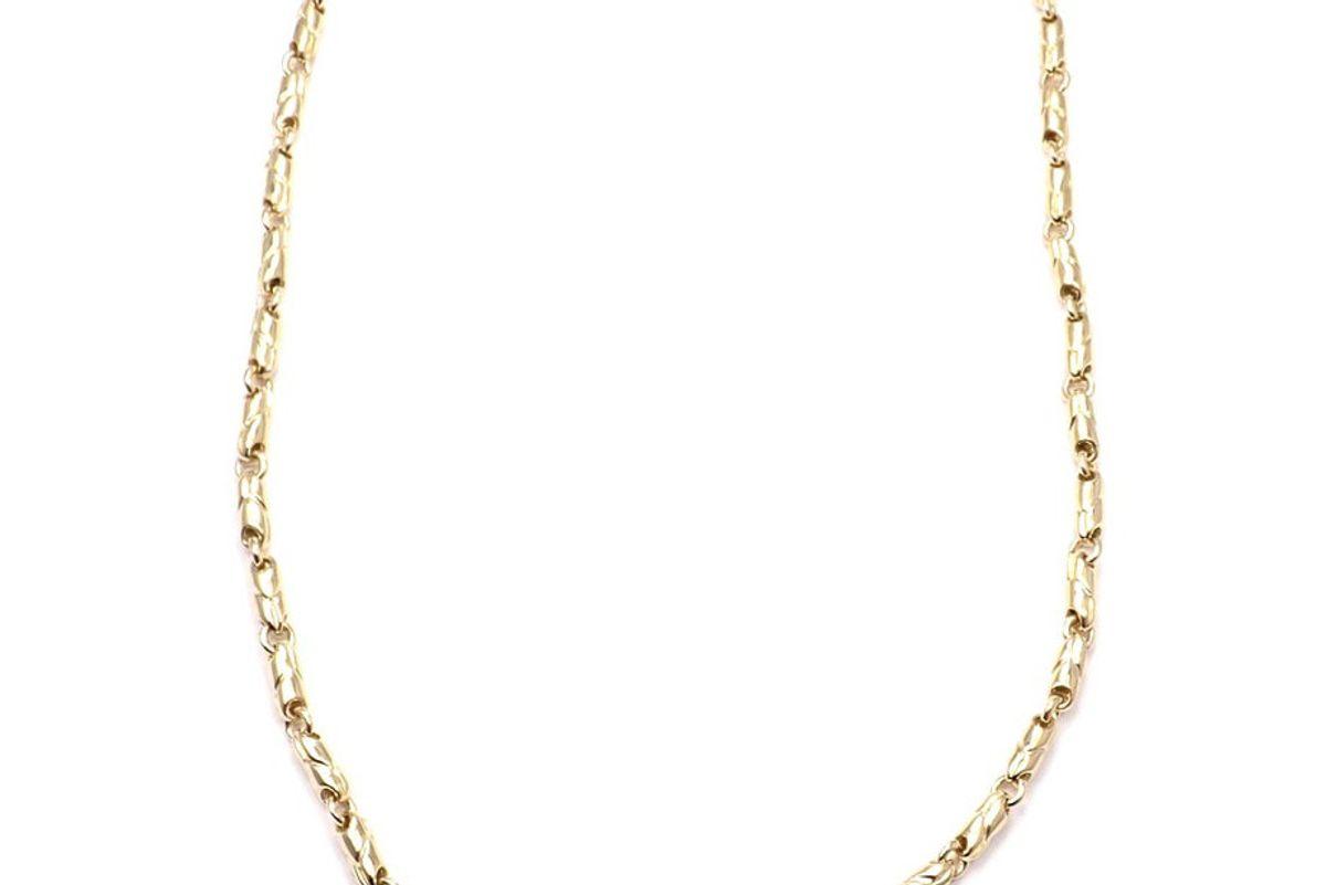 bulgari link yellow gold chain necklace