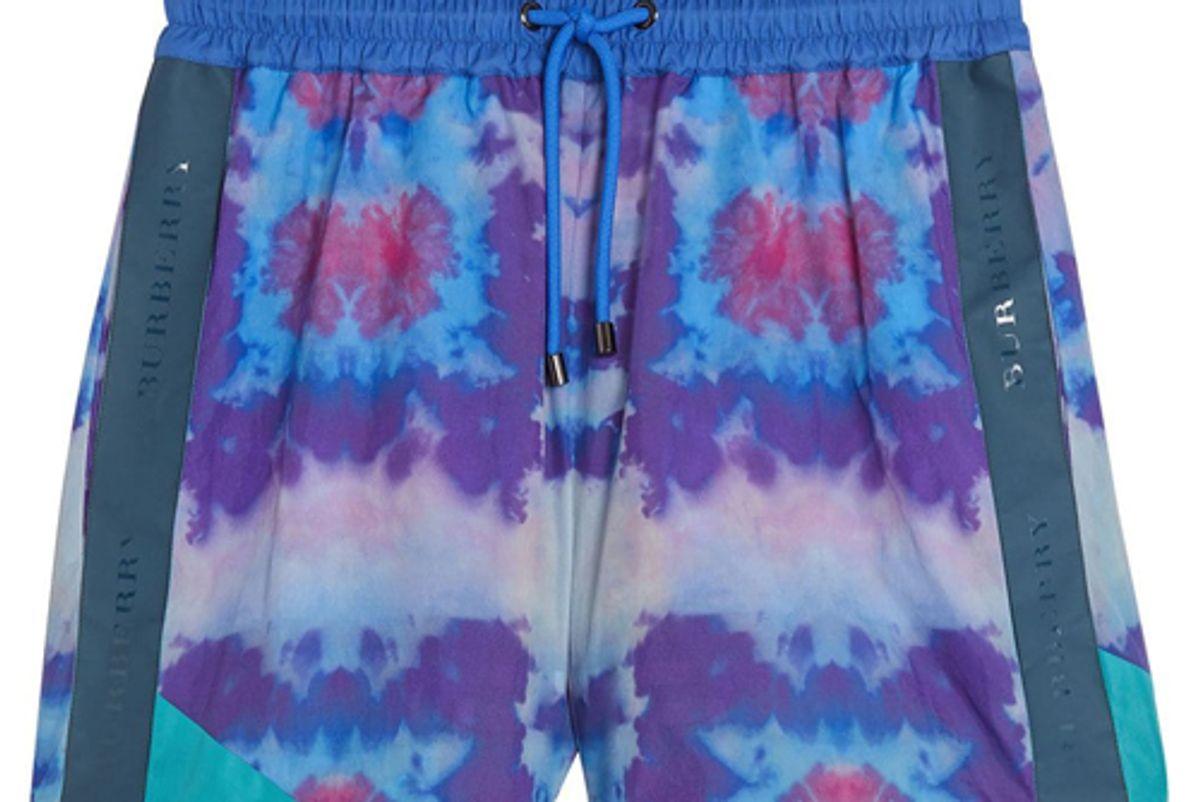 burberry tie dye shorts