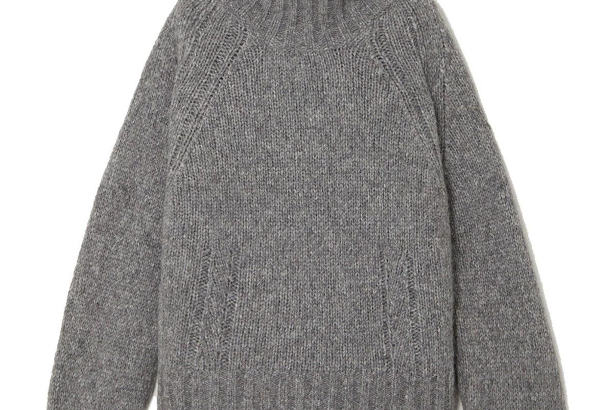 by malene birger net sustain aleya oversized alpaca blend turtleneck sweater