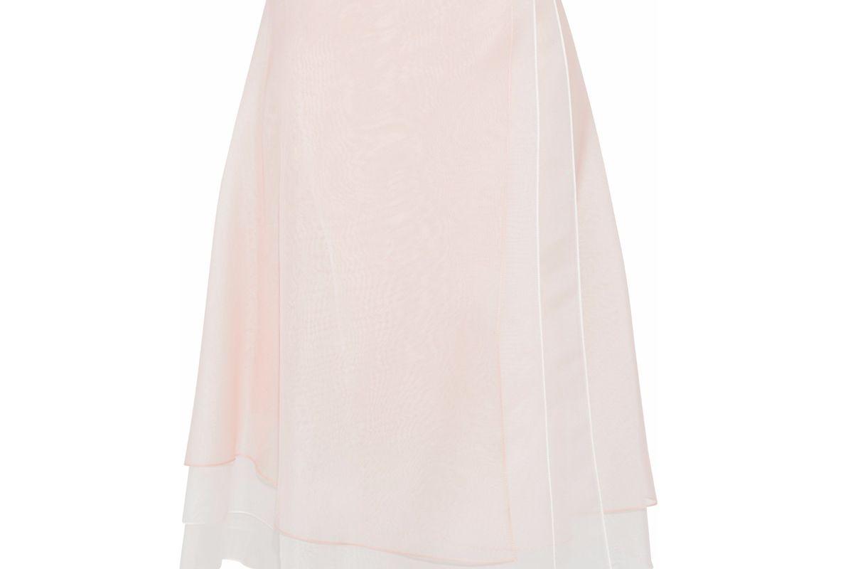 carolina herrera layered silk organza skirt