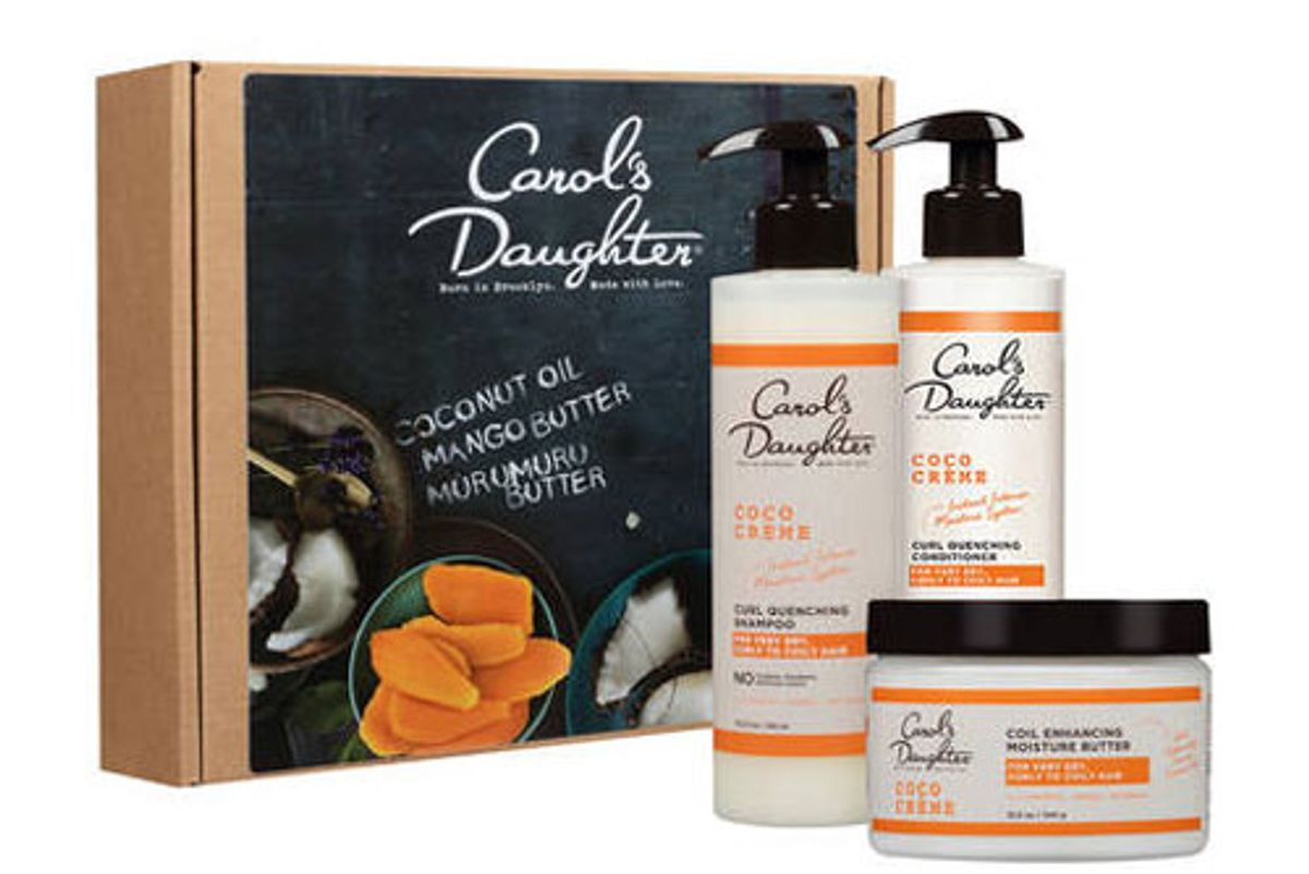 carols daughter coco creme shampoo conditioner and coil butter gift set