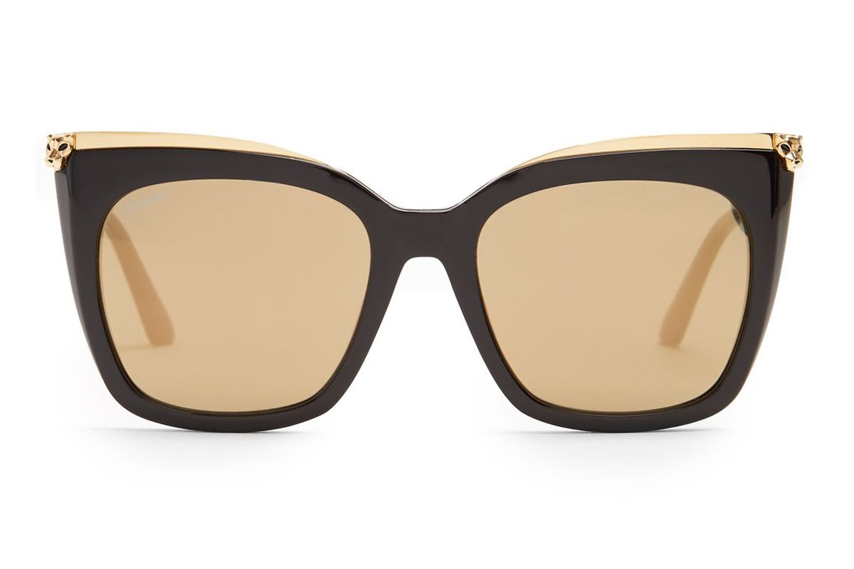 cartier panthere de cartier acetate sunglasses