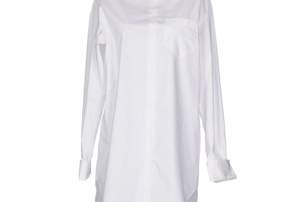 carven white button down shirt
