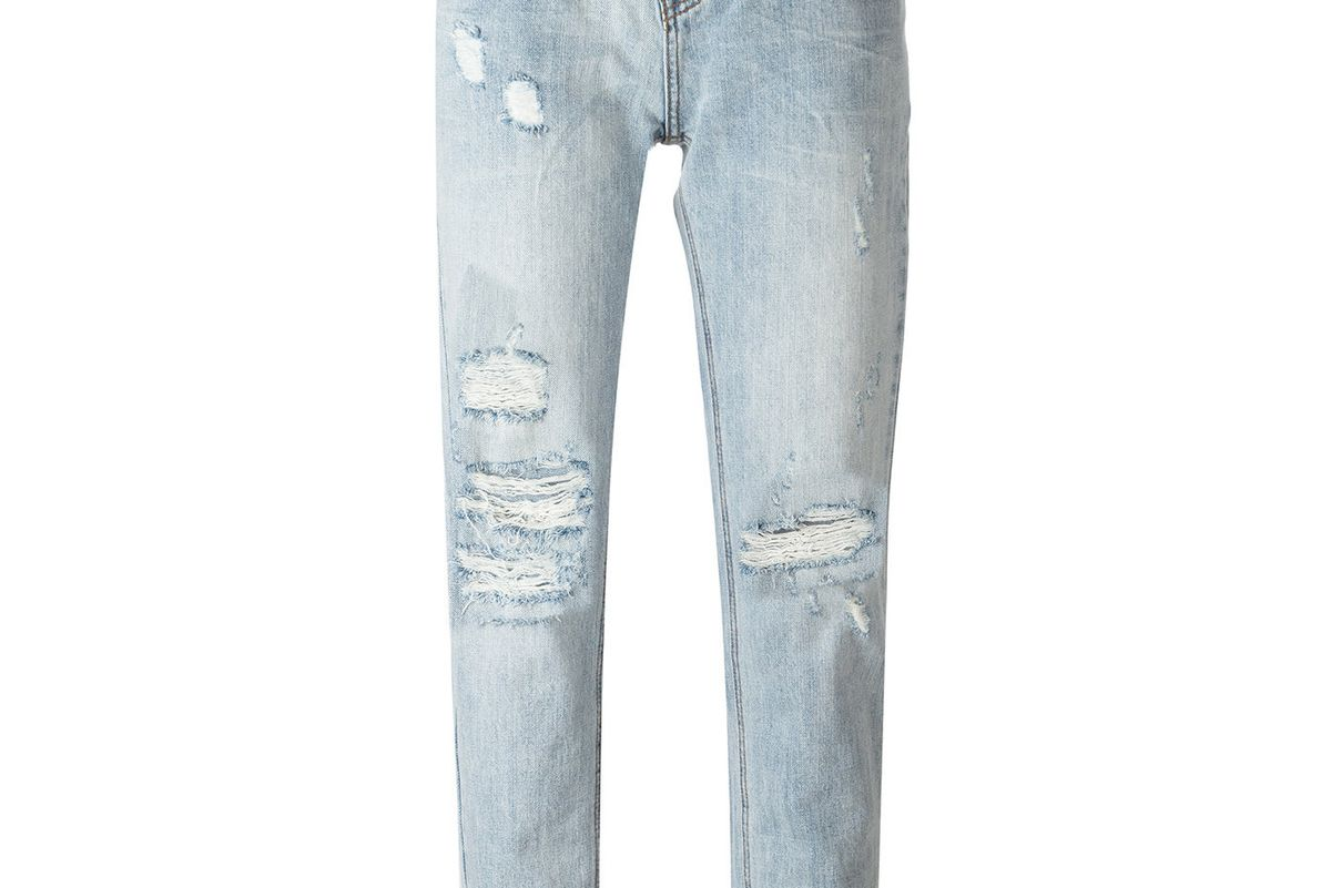 Cropped Distressed Jeans