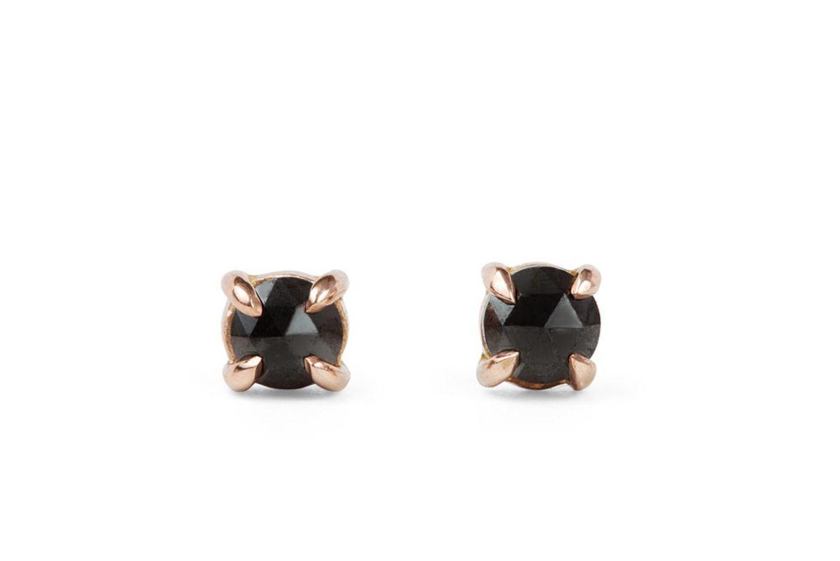 Maleficent Black Diamond Studs