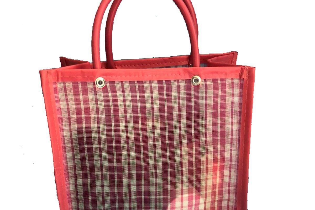 chivatas gingham pink tote bag