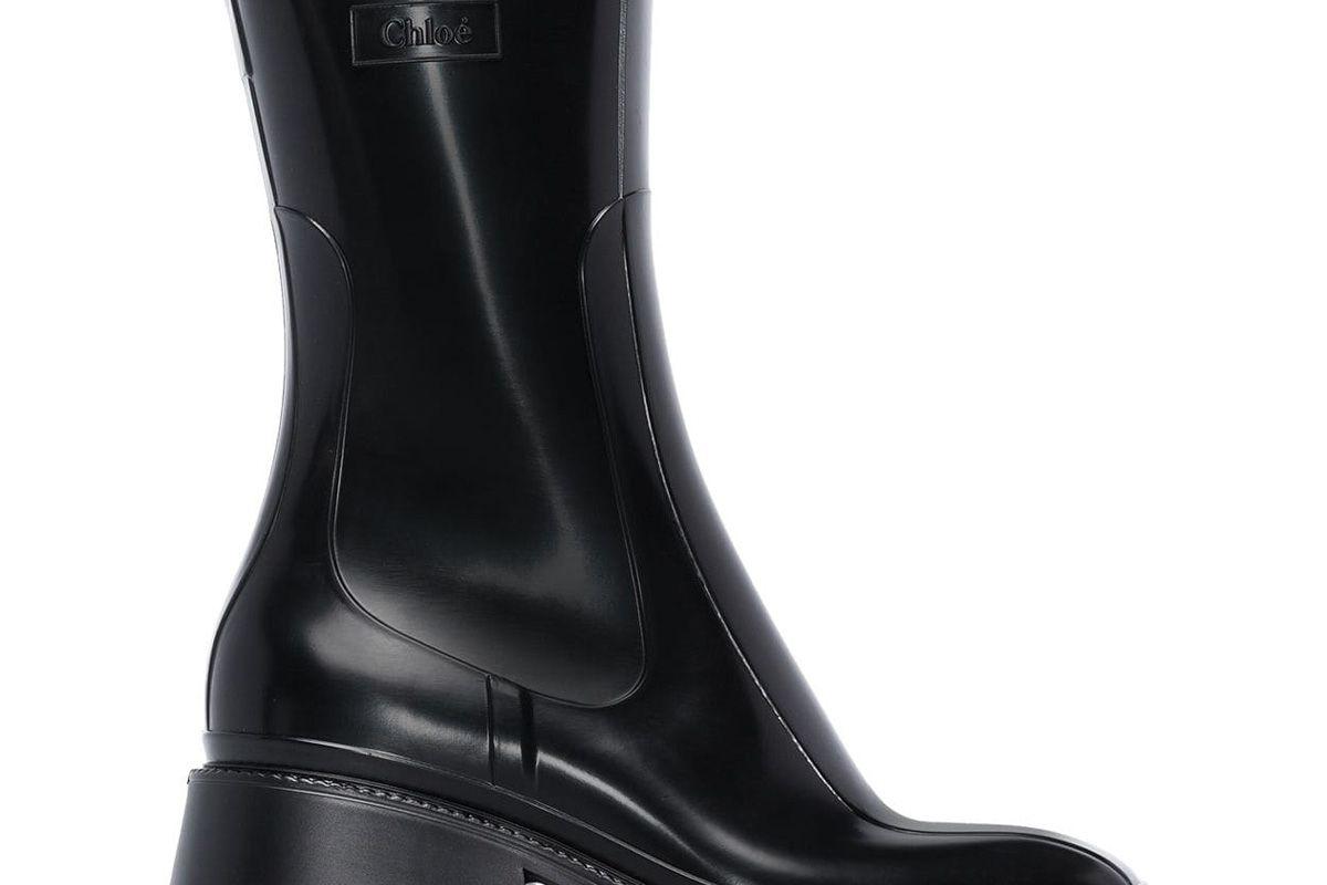 chloe betty 50mm rain boots