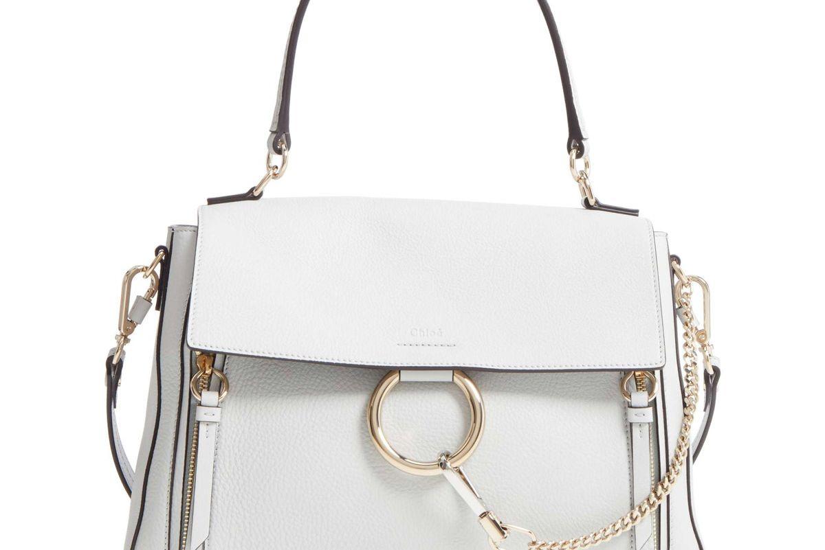 chloe medium faye leather shoulder bag