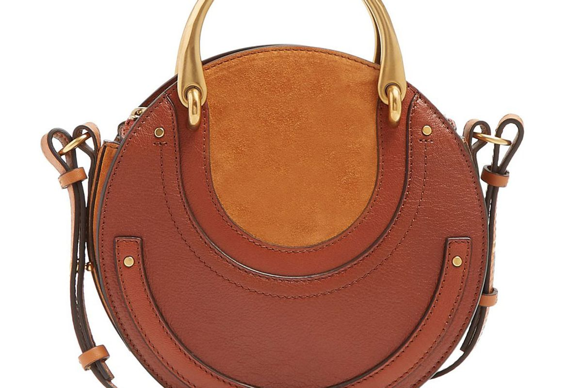 chloe pixie small leather and suede cross body bag