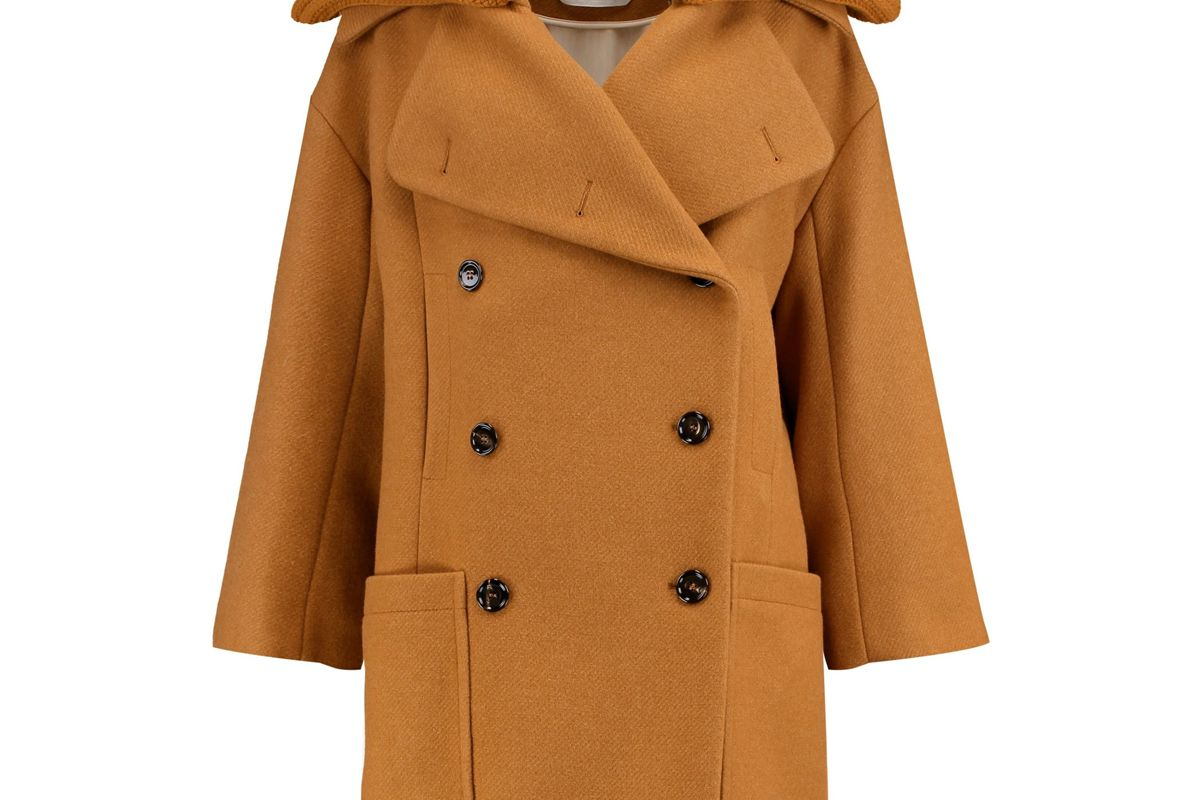 chloe wool blend coat