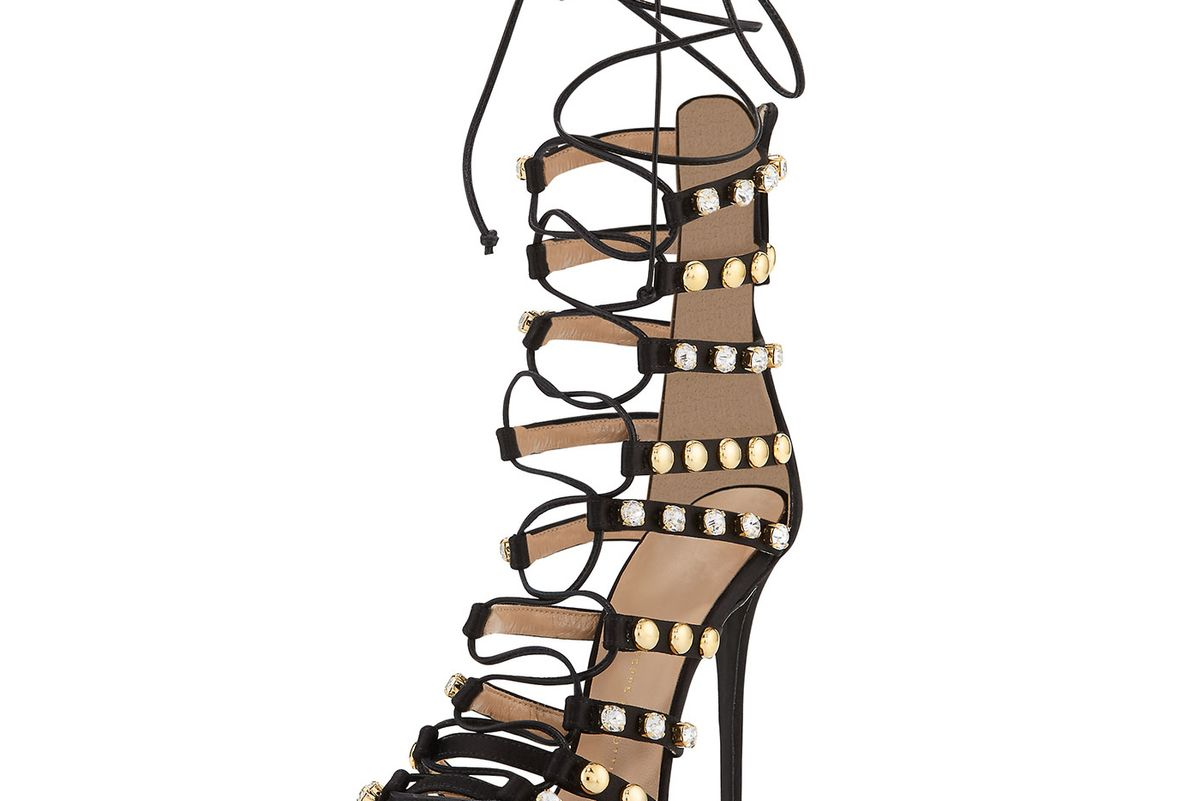 Coline Strappy Lace-Up 110mm Sandal