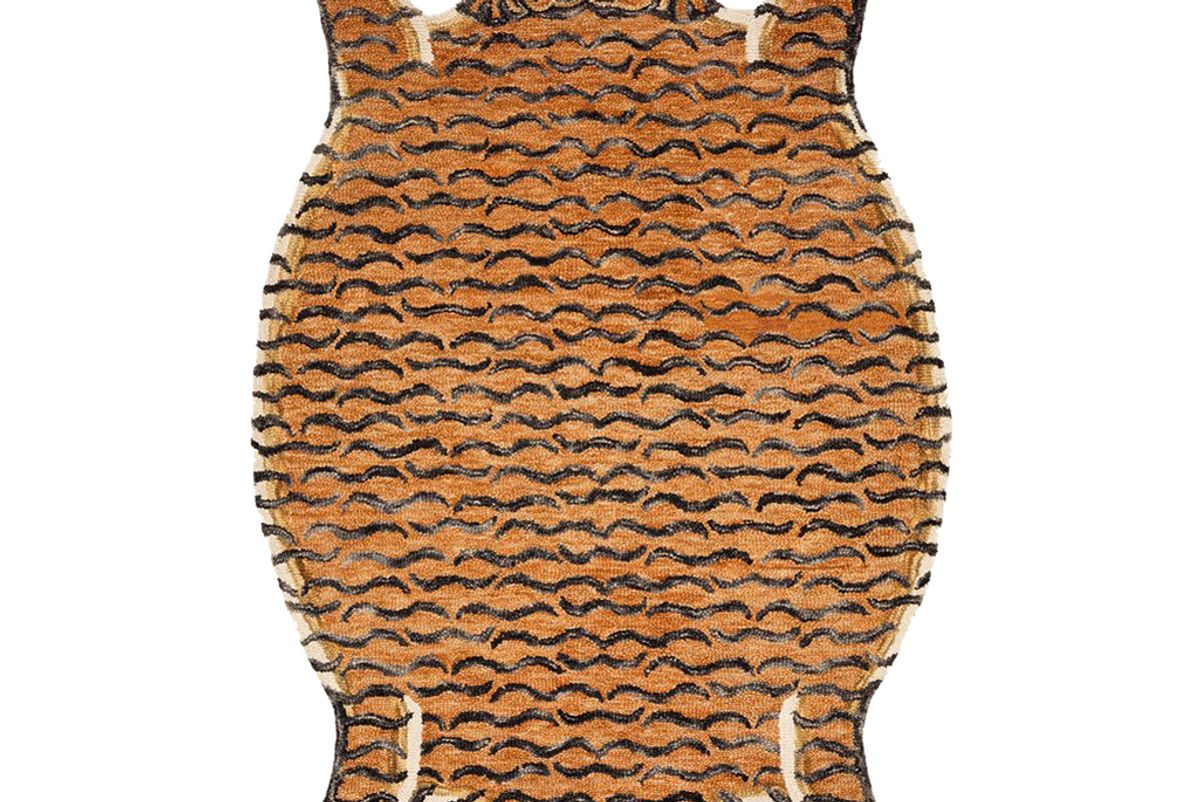 justina blakeney chubby tangerine tiger rug by justina blakeney x loloi