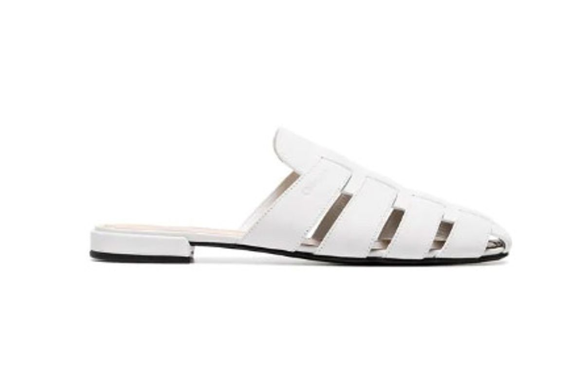 churchs white becky cutout leather mules