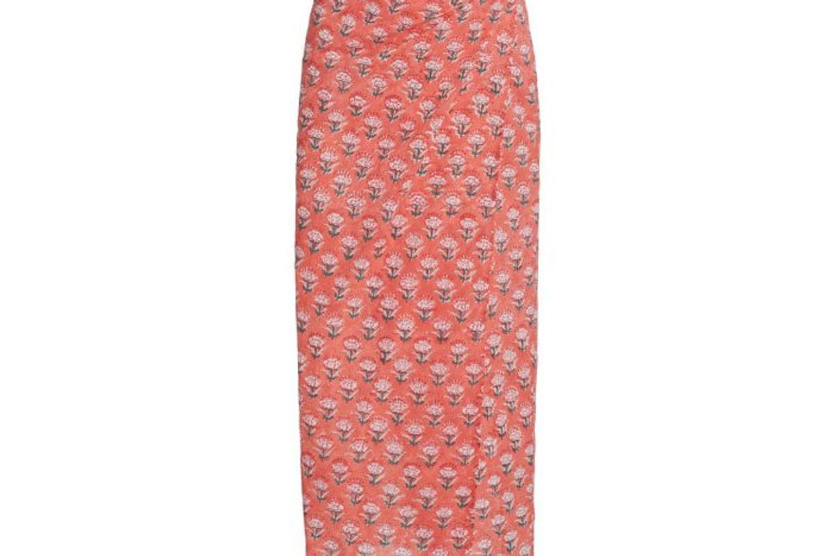 ciao lucia rosetta maxi cotton column skirt