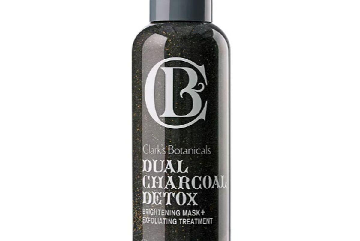 clarks botanicals dual charcoal detox brightening mask exfoliating treatment