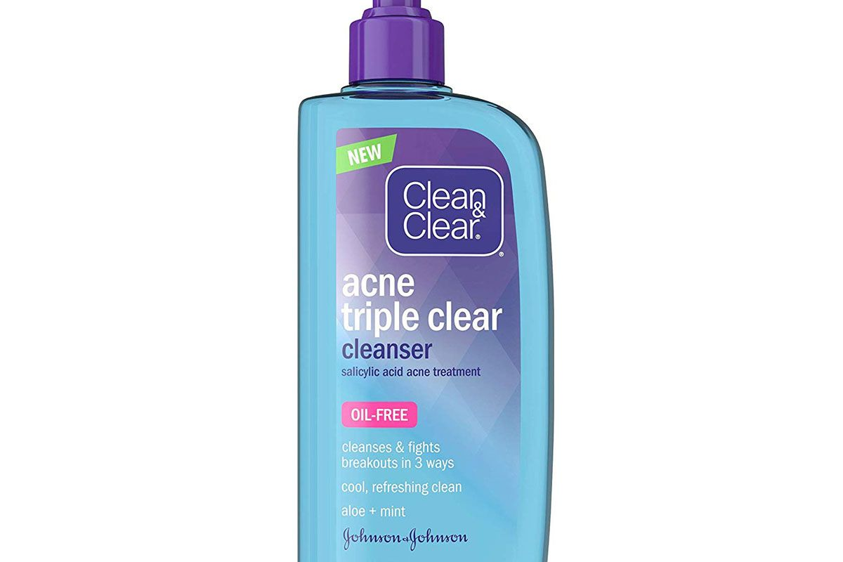 clean and clear acne triple clear facial cleanser salicylic acid