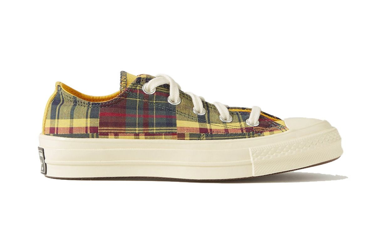 converse twisted prep chuck 70 checked canvas sneakers