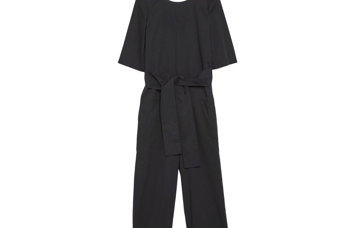 Short-sleeve Poplin Jumpsuit