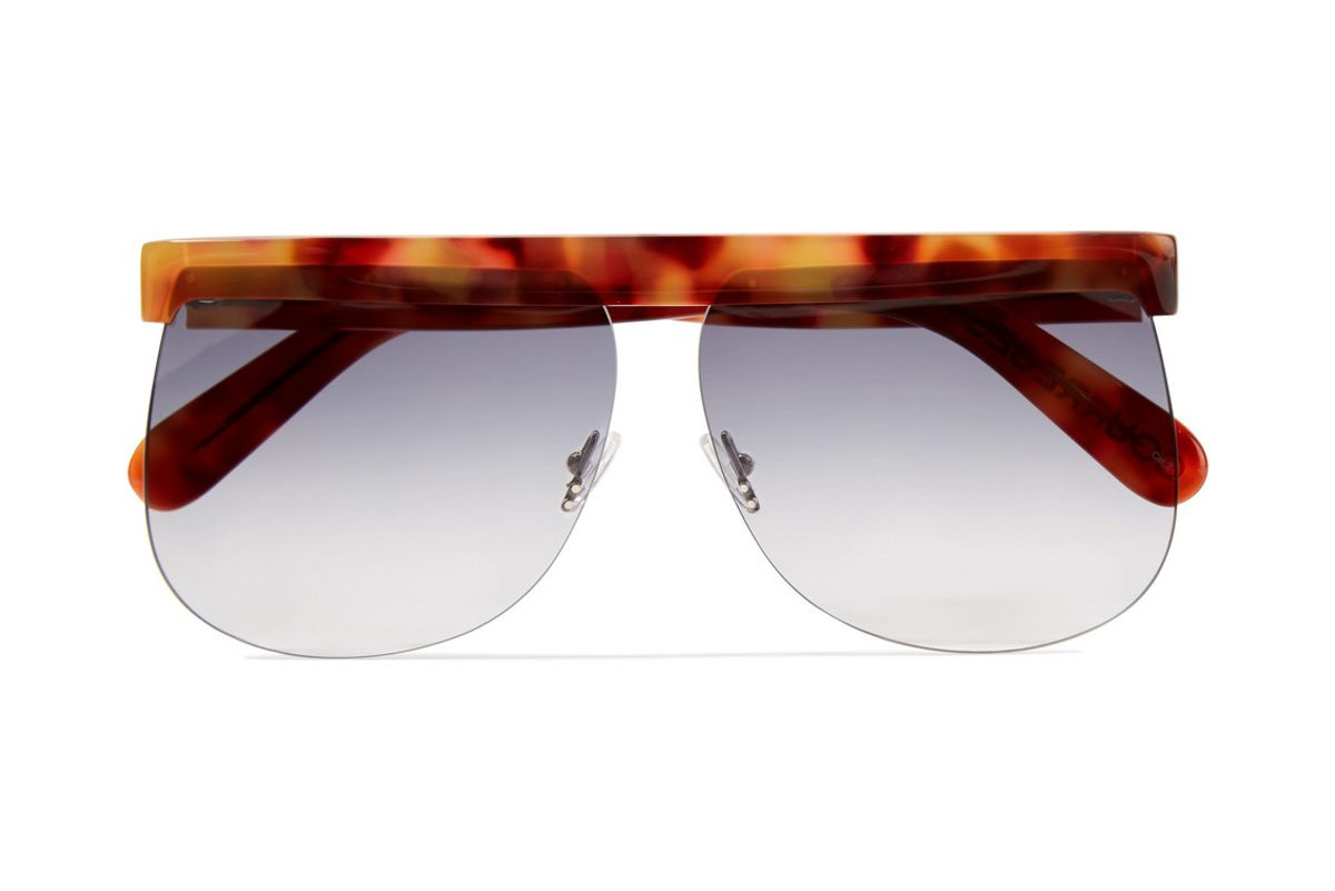 courreges d frame tortoiseshell acetate sunglasses