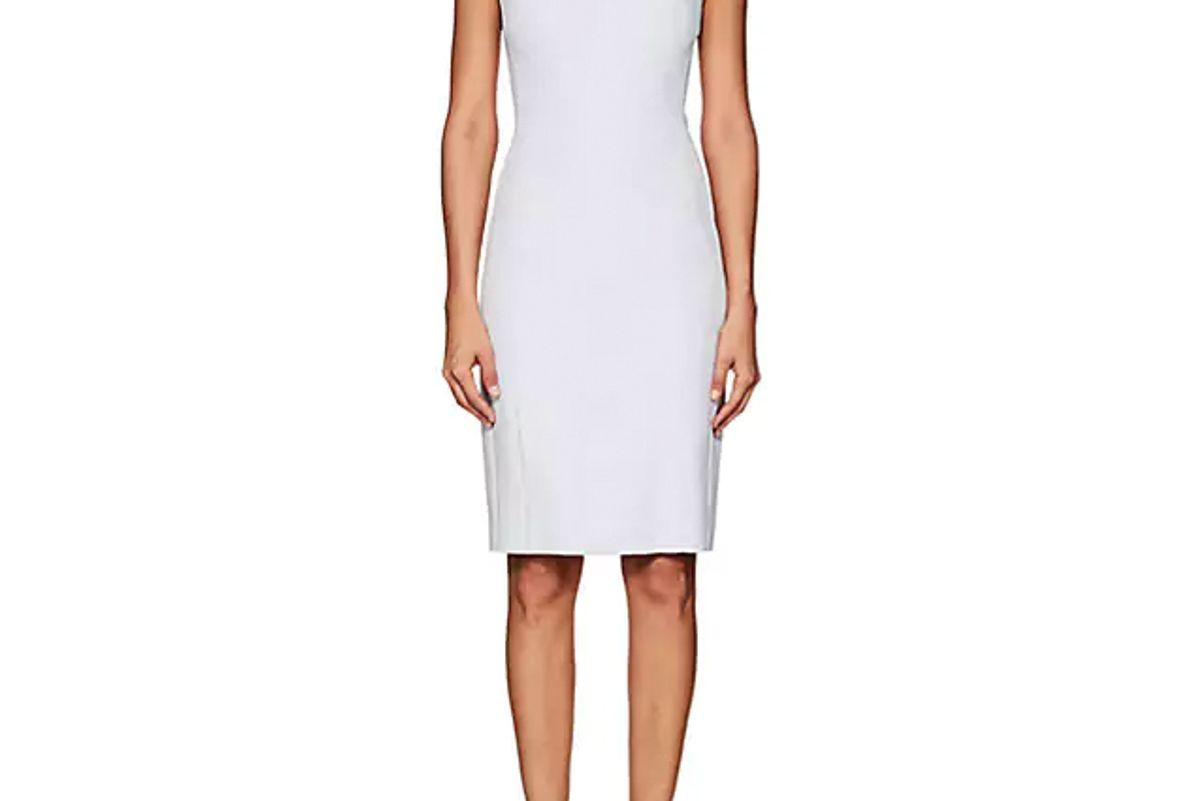 narciso rodriguez crepe fitted sheath dress