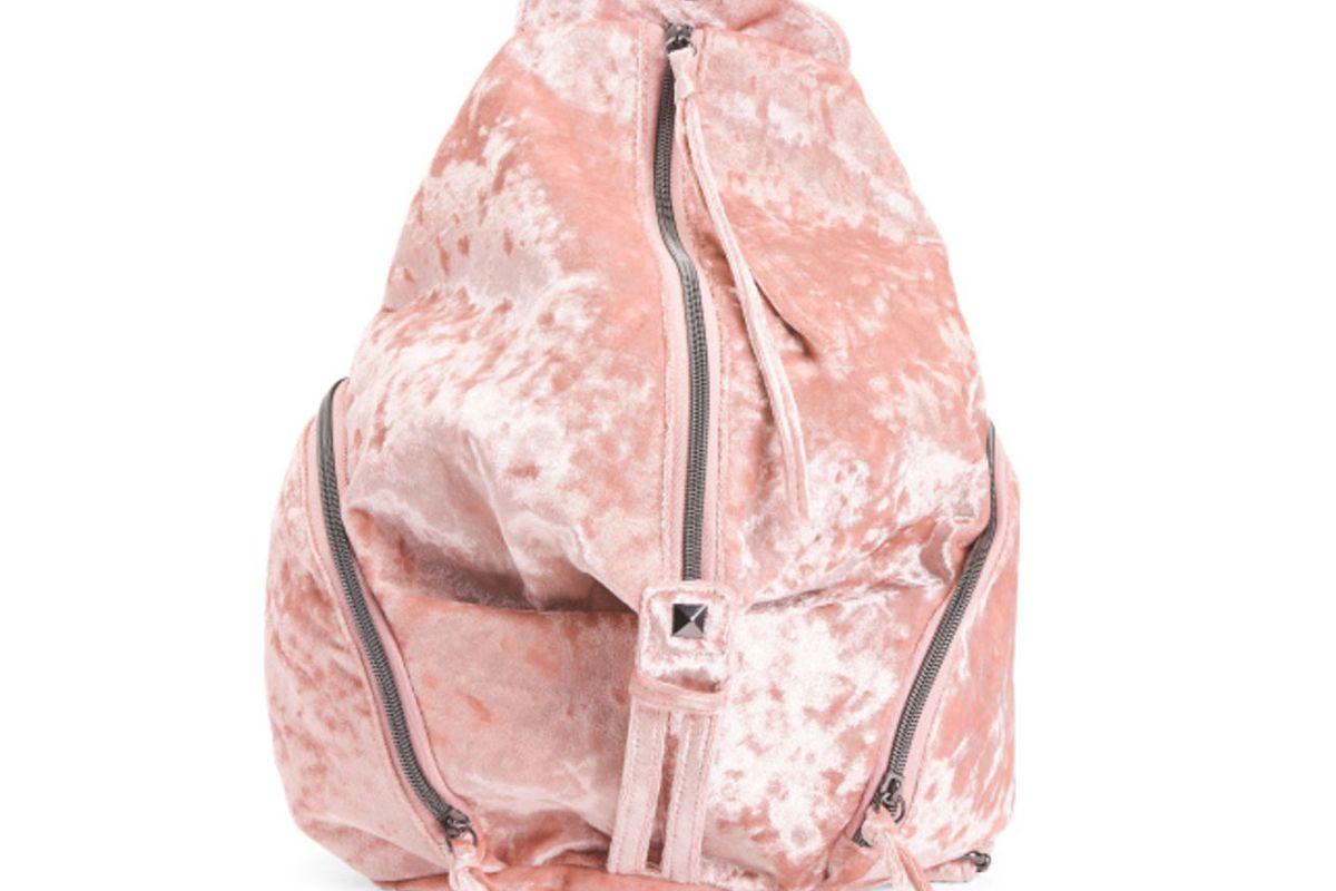 Large Crushed Velvet Backpack