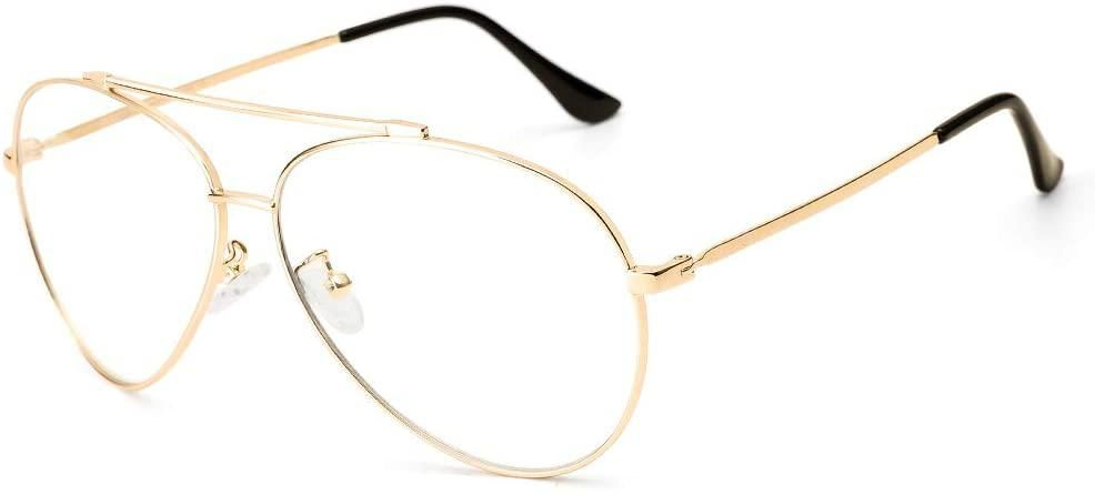 cyxus blue light blocked aviator glasses