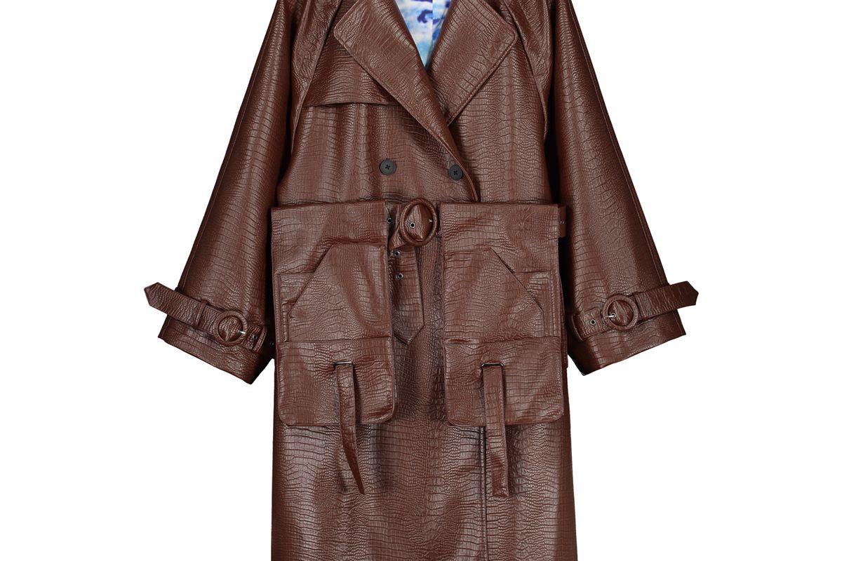 daily paper brown croco hante jacket