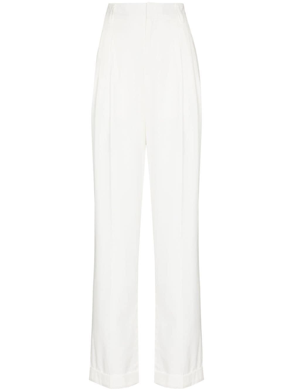 daily paper high waist split cuff trousers