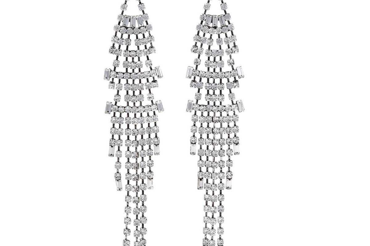 danijo gale oxidized silver plated crystal earrings