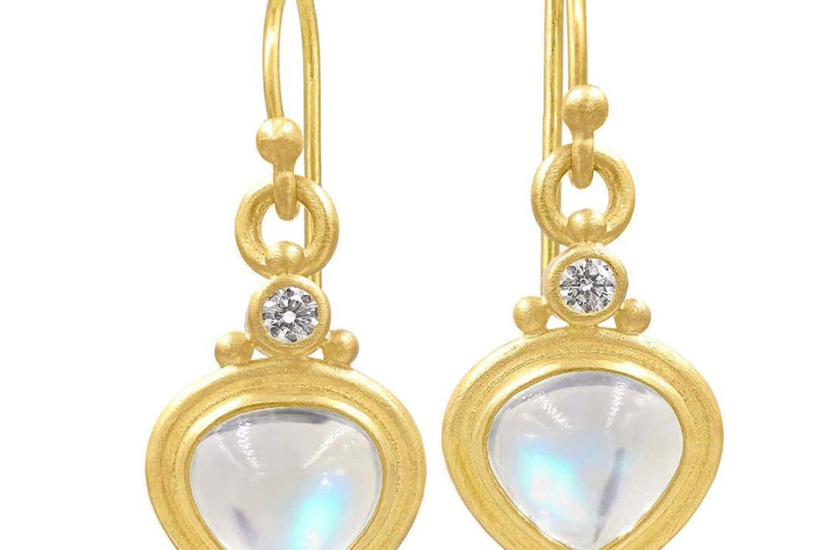 denise betesh tabiz moonstone white diamond one of a kind drop earrings