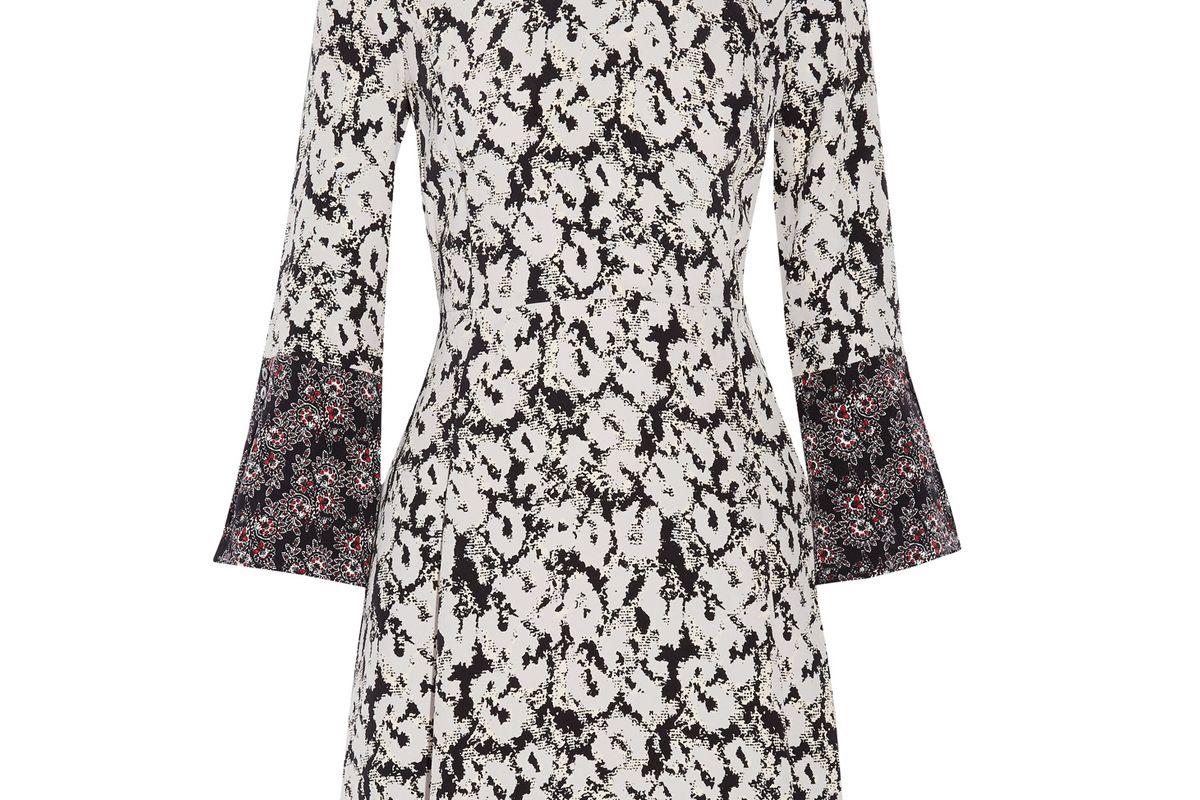 Printed Silk-Twill Mini Dress
