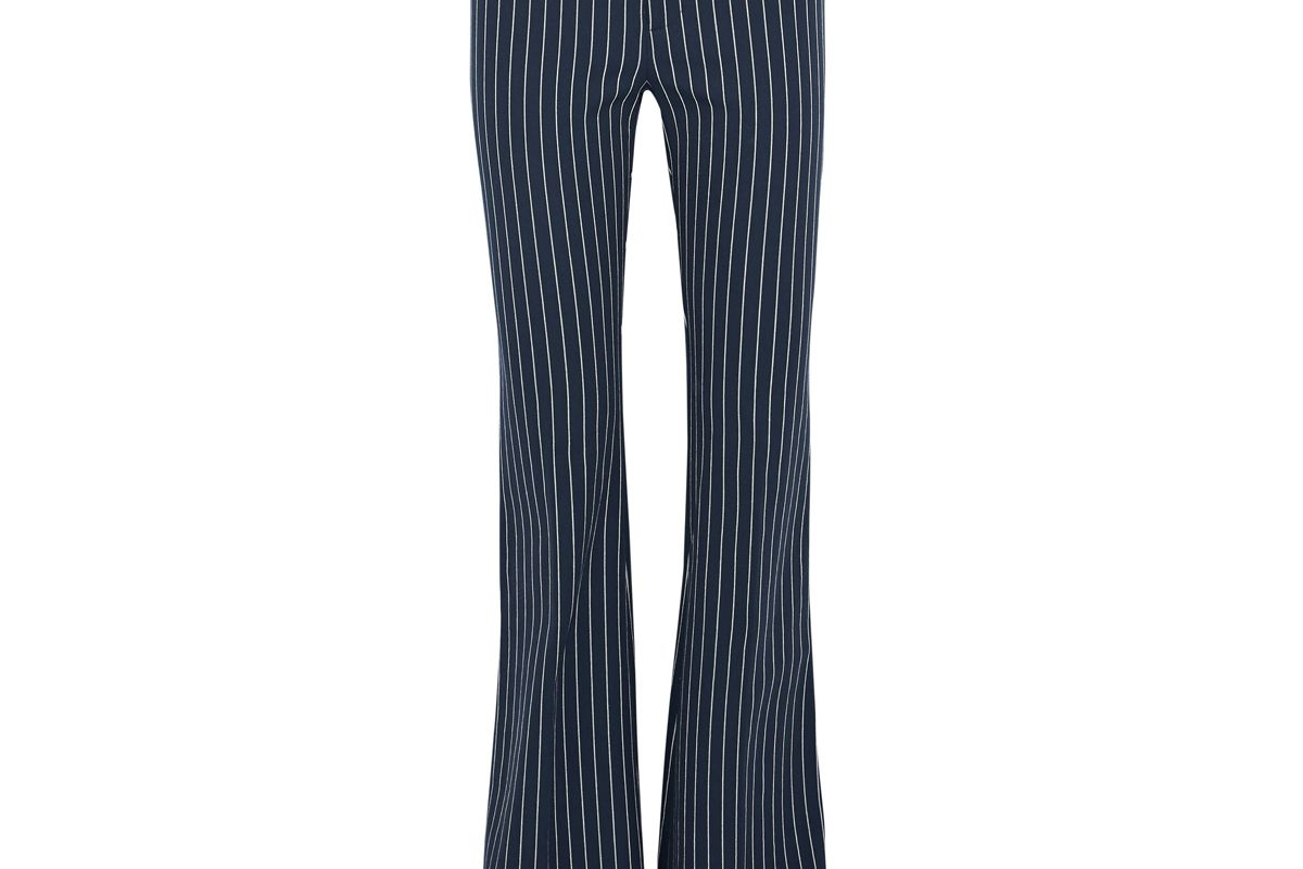 derek lam 10 crosby striped stretch cotton flared pants