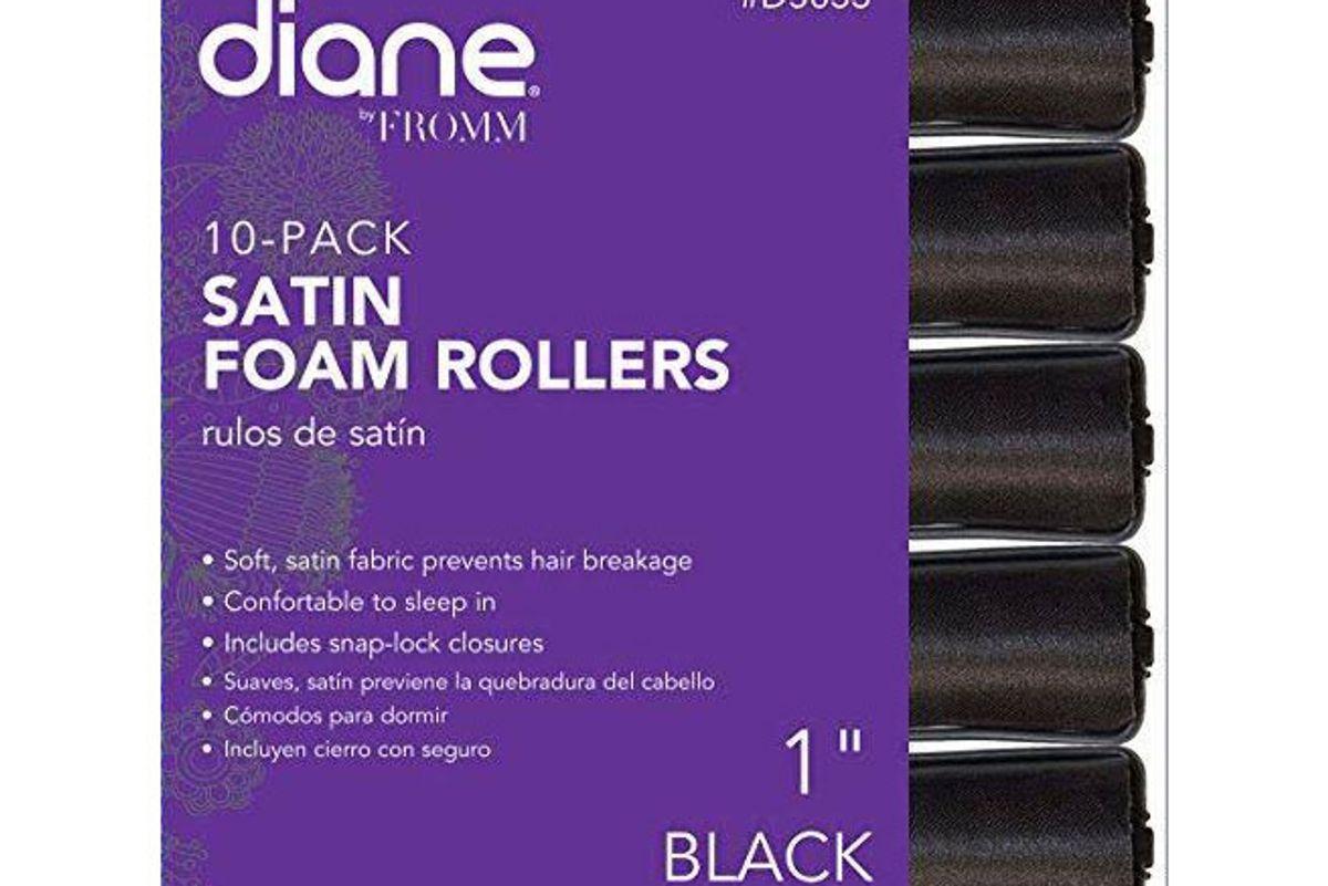 diane satin foam rollers 7 8 inch 10 count