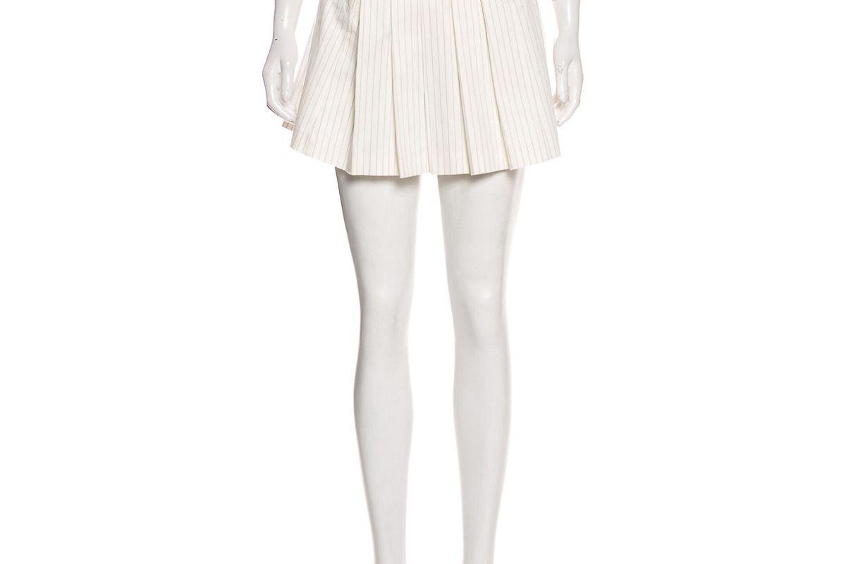 diane von furstenberg pleated accents mini skirt