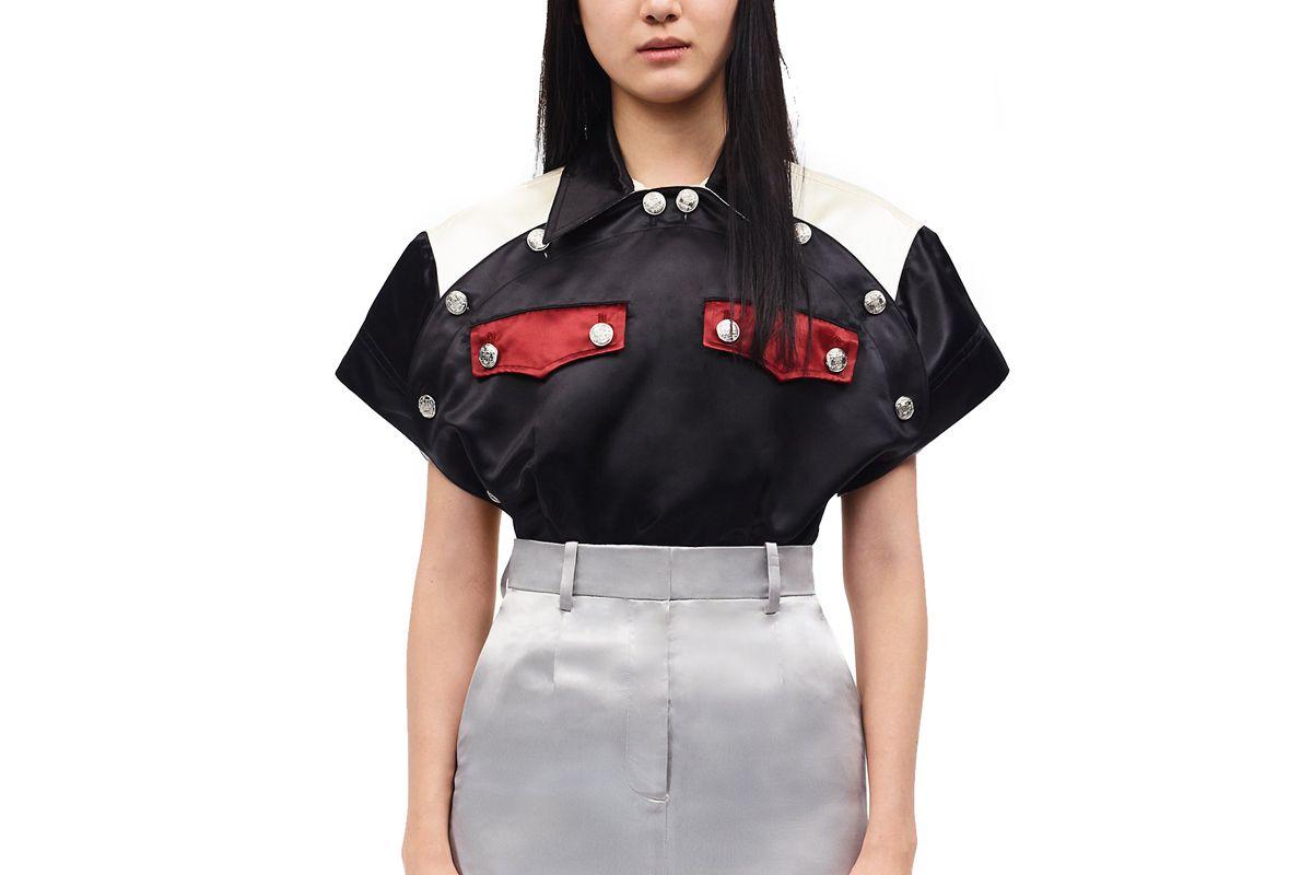 calvin klein 205w39nyc diner uniform round shirt